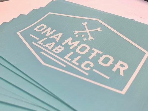 DNA Motor Lab Cross Wrench Transfer Vinyl Decal