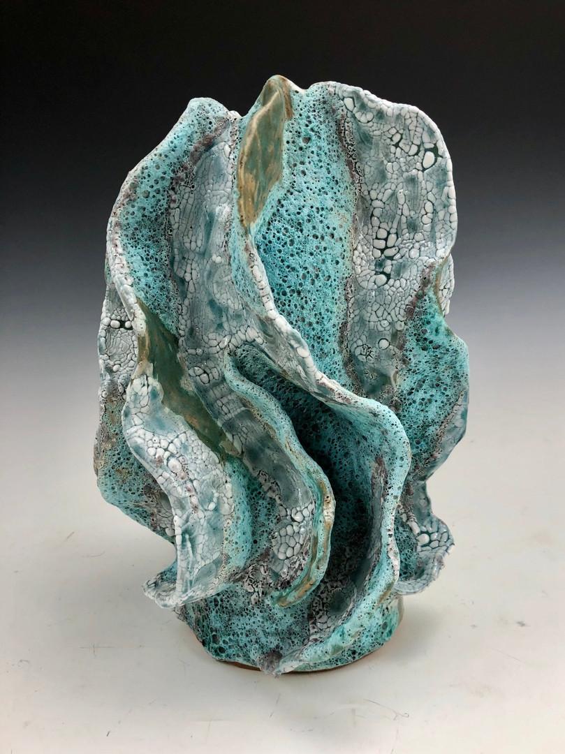 Aqua Coral Crackle