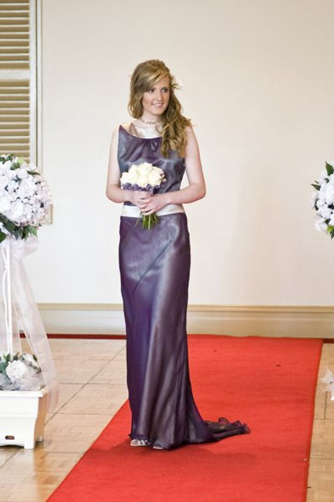Silk 'Brownlow' gown size 10