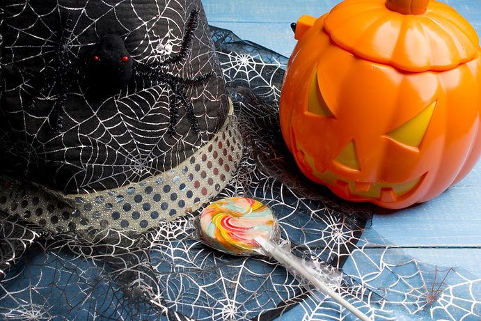 Halloween Hat and Decor
