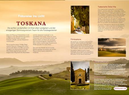 Licht in der Landschaft - die Toskana