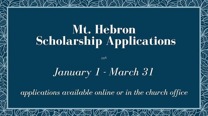 Mt Hebron Scholarship Application.png