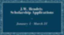 JW Hendrix Scholarship Application websi