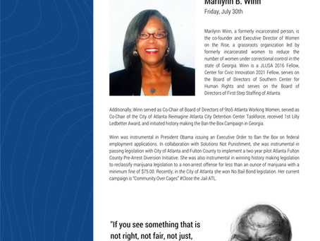 John R. Lewis Lifetime Achievement Award goes to...Marilynn Winn!