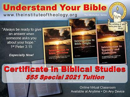 Online Certificate in Biblical Studies
