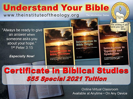 Online Certificate in Biblical Studies