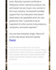 Indie Music Women part 3