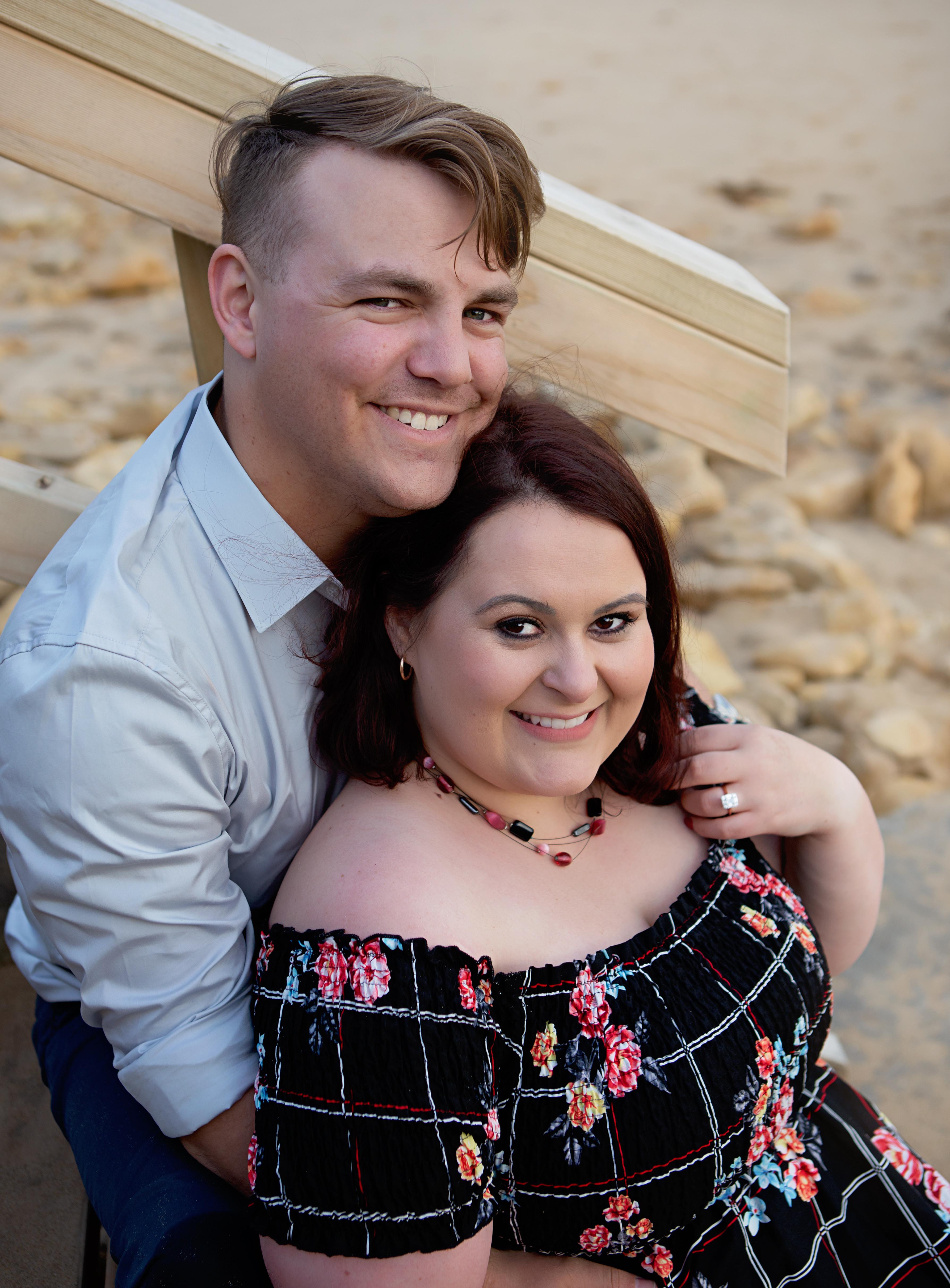 Couple beach session