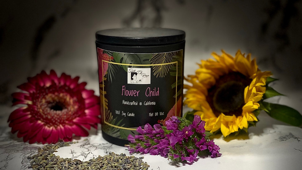 FLOWER CHILD 10 OZ CANDLE