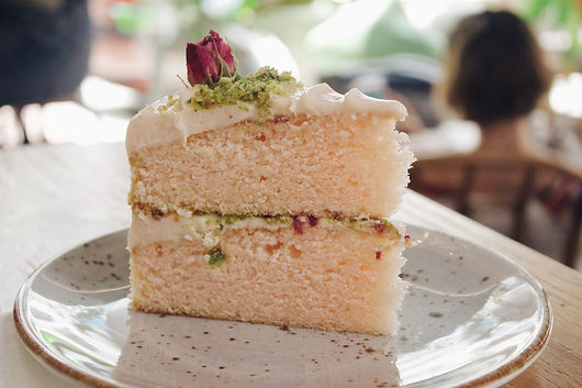 A piece of cake greenwood pistachio cake