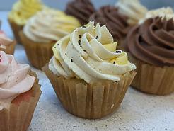 Lemon Poppyseed Vegan Cupcake