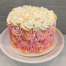 Rose and Gold Luster Dust Cake