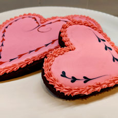 Valentines Chocolate Sugar Cookies