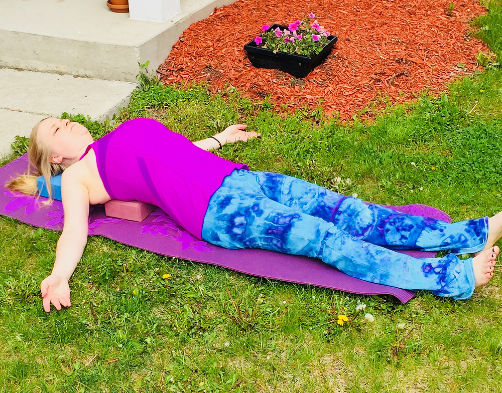 restorative fish pose