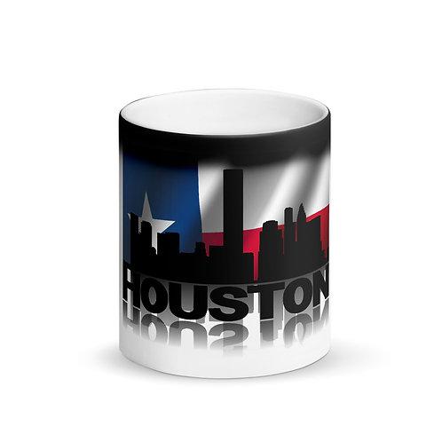 Houston Matte Black Magic Mug