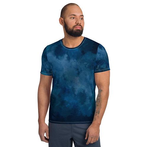 Smokey Blue Men Athletic T-shirt