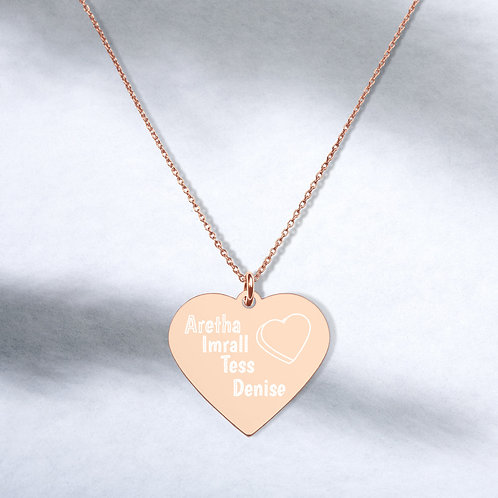 Family Engraved Heart Necklace