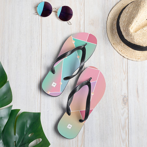 Broken Glass Flip-Flops