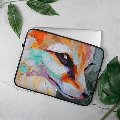 Oil Fox Portrait Painting Laptop Sleeve