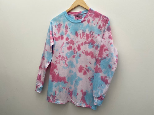 SMALL LONG SLEEVE TEE// PINK & BLUE