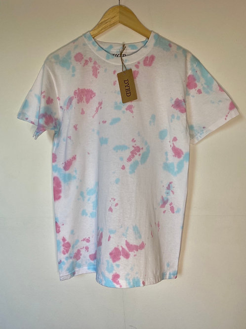 PINK & BLUE DROPS TEE LARGE