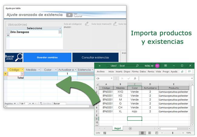 Software importar productos desde Excel