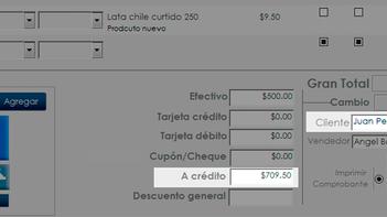 Control de Clientes y créditos