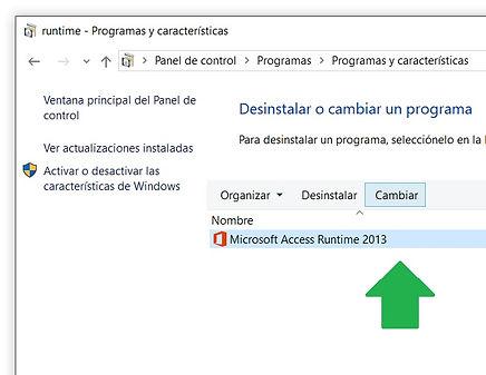 reparar access runtime