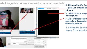 Foto de producto por webcam