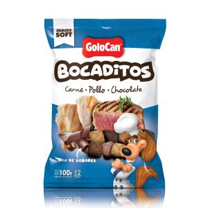 GOLOCAN BOCADITOS CARNE POLLO CHOCOLATE