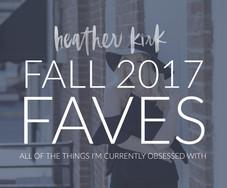 FALL FAVORITES 2017