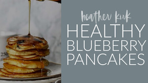 HEALTHY BLUEBERRY PANCAKES!