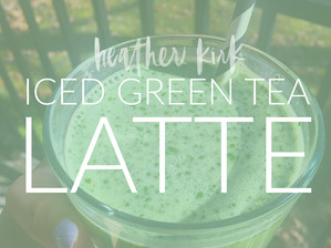 ICED GREEN TEA (MATCHA) LATTE. NO STARBUCKS REQUIRED.