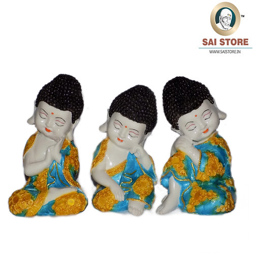 Buddha Idol Statue Pack Of 3