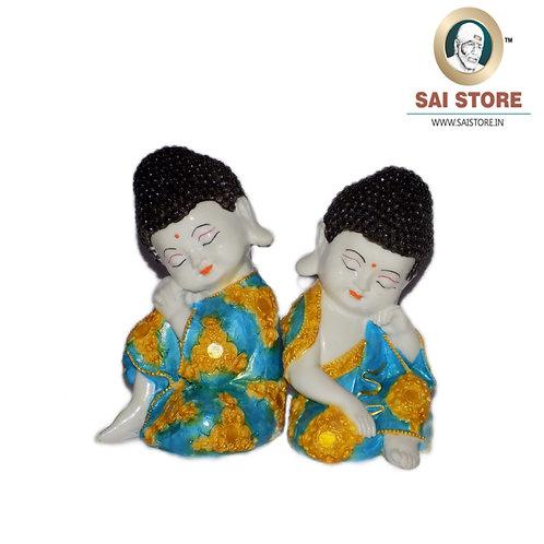 Buddha Idol Statue Pack Of 2