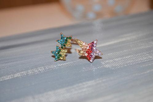 Adjustable Triple Star Ring
