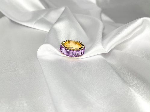 Rhinestone Ring - Lavendar