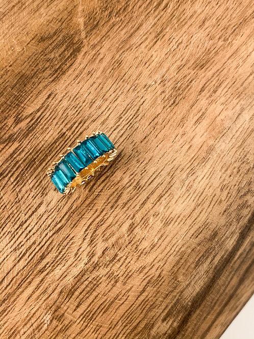Rhinestone Ring - Turquoise
