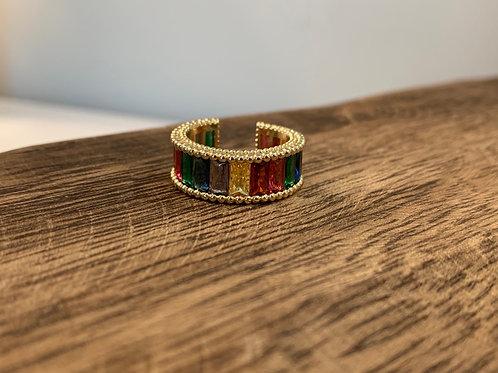 Rhinestone Ring - Rainbow
