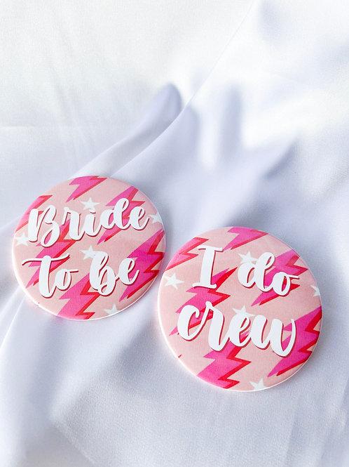Bridal Lightning Bolts Pink