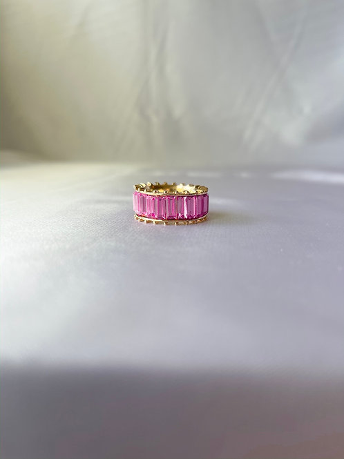 Rhinestone Ring - Pink