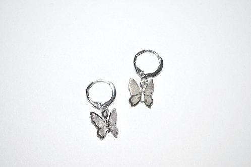 Simple Butterfly Huggie Hoops