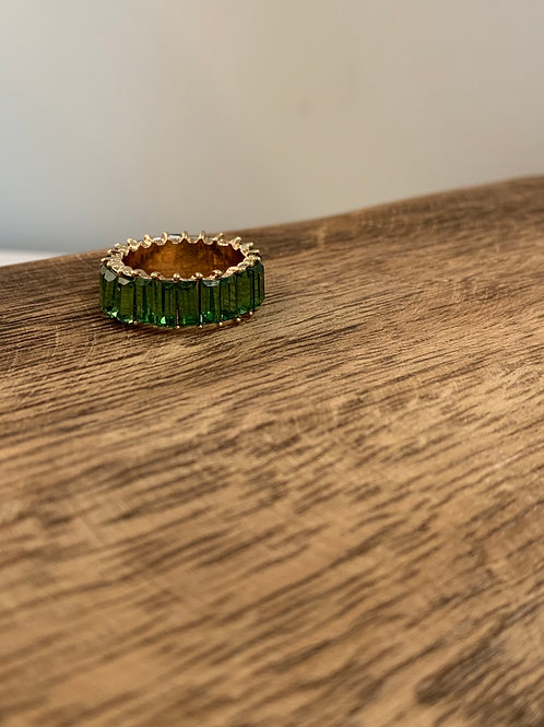 Rhinestone Ring - Green