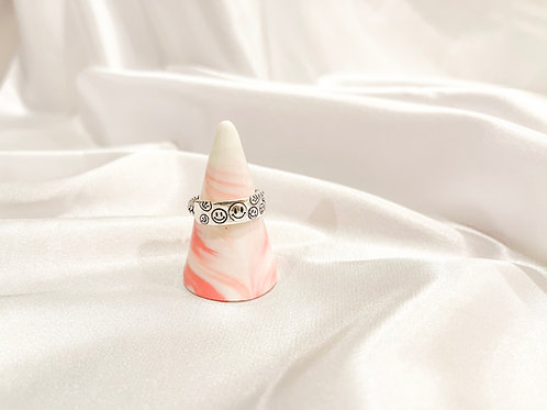 Silver Multi Smile Ring