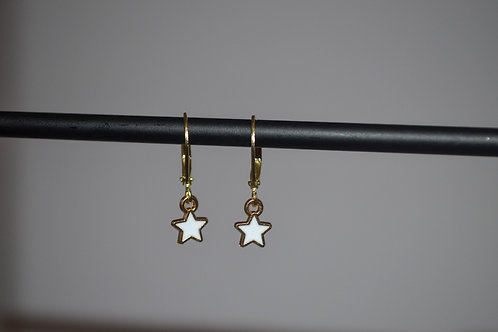 Star Huggie Hoops