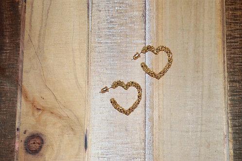 Speckle Heart Earrings