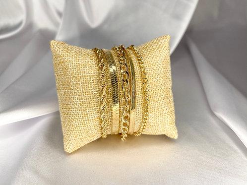 Chain Link Bracelet Set
