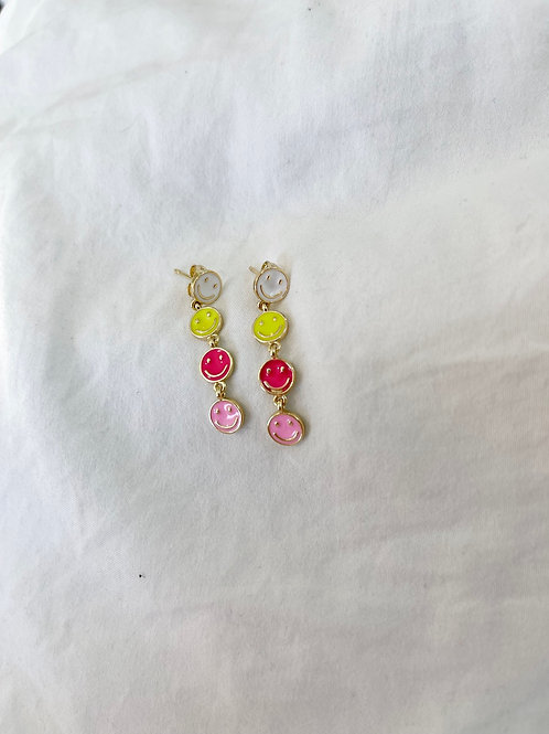 Smiley Drop Earrings