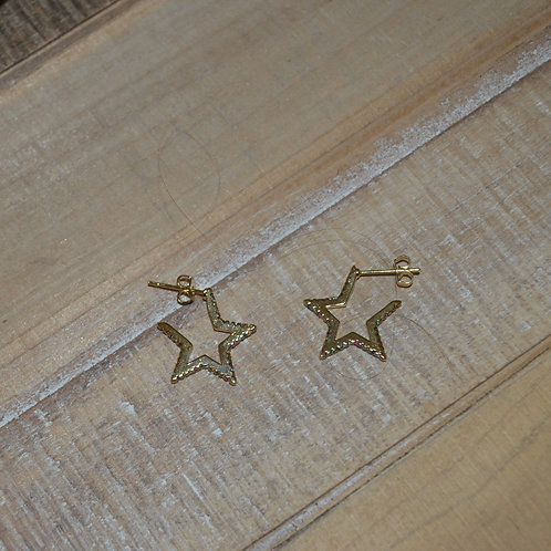 Small Rainbow Star Studs