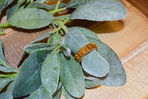 Rhinestone Ring - Burnt Orange